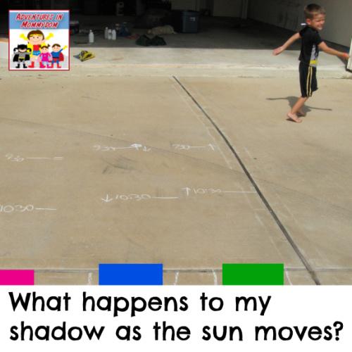 shadow science experiment prek kinder