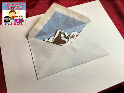 storing large Noah game pieces in envelope