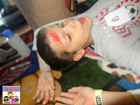 teach first aid to kids, ham it up