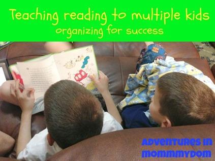 teaching reading to multiple kids
